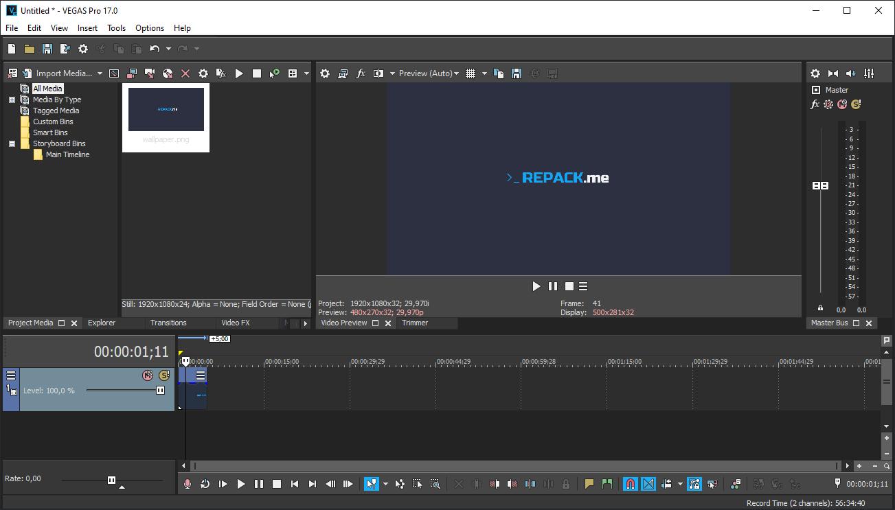 Скриншоты к MAGIX Vegas Pro 17.0 Build 284 (2019) PC | RePack